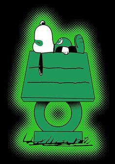Linterna Verde versión snoopy!