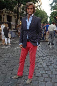 Pantalones de algodón color Rojo Streetstyle San Jorge Juan 2012 Javier