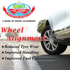 Wheel Alignment, can help your tires perform properly and help them last longer. It can also improve handling & improved fuel Consumption. #WheelAlignment #WheelBalancing #Ahmedabad
