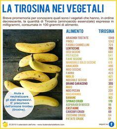 ✔ Aminoacidi non essenziali: la Tirosina nei vegetali