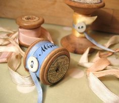 A cute way to store and display your ribbons and lace