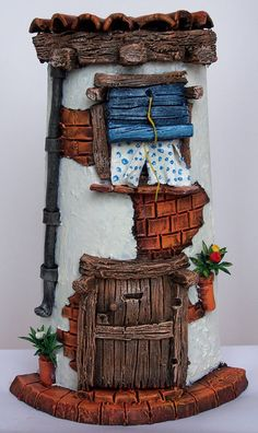 1 million+ Stunning Free Images to Use Anywhere Homemade Polymer Clay, Polymer Clay Crafts, Diy Clay, Hobbies And Crafts, Diy And Crafts, Clay Roof Tiles, Clay Fairy House, Pottery Houses, Clay Fairies