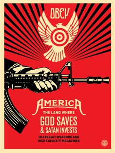 "Shepard Fairey ""God Saves & Satan Invests"" New Print Available April 2nd StreetArtNews"