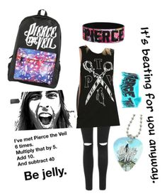 """""""Pierce the veil outfit✌️"""" by esacpedwonderland ❤ liked on Polyvore featuring Topshop"""