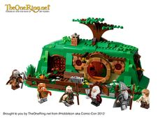 Bag End by Lego.  Unveiled at ComicCon 2012.