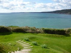 The view of the sea from Polhawn Fort, Cornwall Chestnutbookblog