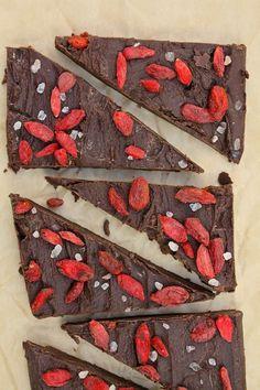 Salted Goji Berry Chocolate Bars