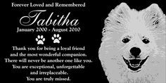 Personalized American Eskimo Dog Pet Memorial 12'x6' Engraved Black Granite Grave Marker Head Stone Plaque TAB1 -- Don't get left behind, see this great dog product : Dog Memorials