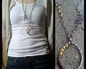 Copper necklace with crystal beads,Handmade copper wire necklaces with handmade chain