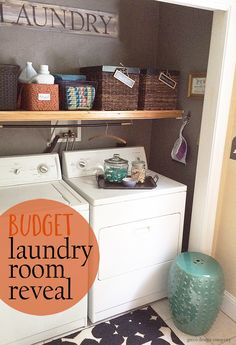Makeover your laundry area with lots of DIY projects and a limited budget.