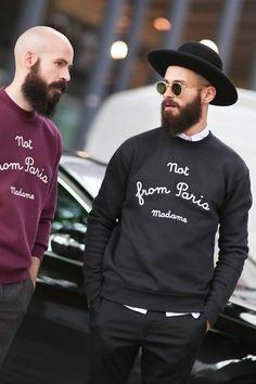 tevin-jackson: more men's fashion at: http://tevin-jackson.tumblr.com alkarus: [ Paris fashion week SS15 ] During Maison Martin Margiela show. Photograph: unknown