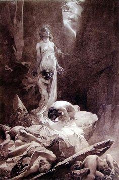 poisonwasthecure:    Le Pater pt. I Alphonse Mucha ca. 1899