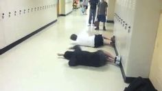 My friend and I like to swim laps in the hallway (GIF)...whoa....I WILL do this.