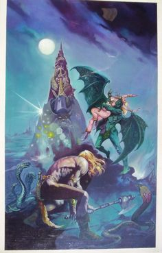 PIGGEONS FROM HELL (ROBERT E. HOWARD ) COVER BY ESTEBAN MAROTO 1980, in ESTEBANMAROTO's SPECIAL ART FOR SALE Comic Art Gallery Room