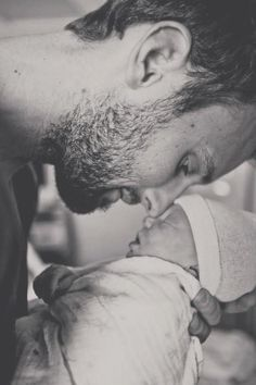 Love when men love their children enough to care to share duties of nurturing...