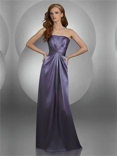 Strapless Sheath/Column Empire Sliver With Belt Prom Dress PD0471