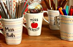 Decorated Teacher's Mug Gifts