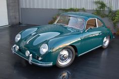 1958 Porsche 356A. I Love this colour, officially known as Fjord Green
