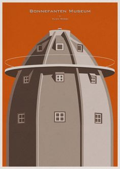 Designer Salutes Iconic Museum Architecture With Delightfully Vintage Posters | Wired Design | Wired.com