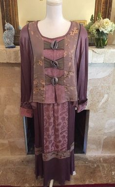 SPENCER ALEXIS 2PC TUNIC SKIRT OUTFIT PLUM PURPLE VICTORIAN LAGENLOOK Women's OS  | eBay