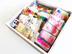 I love using a wide variety of collage paper in all my work.Whether I am   working in my art journal or on a large project I always reach for these   interesting and detailed pages. I keep a big collection of papers,   everything from vintage book and text paper to sheet music to scraps of   inspi