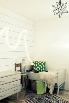 green & white nursery