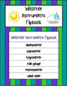 Weather Instruments Flipbook