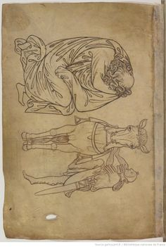 Villard de Honnecourt, Album of drawings and sketches. | Gallica Username:  Ark: / 12148 / btv1b10509412z   For more information,  Bibliothèque nationale de France, Department of manuscripts, French 19093   Origin :  National Library of France