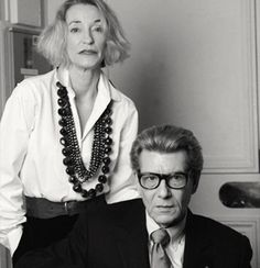 #Loulou and YSL in the later years.