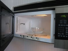 Cleaning your Microwave is as simple as microwaving a cup of water in a glass bowl for about three to five minutes. When it is done, the inside should be nice and steamy, and wiping out the grime inside will be practically effortless! You can also add one tablespoon of white vinegar or three tablespoons of lemon juice to the water as it is said that the citric acid will make it work even better although I find that plain water works just fine. I don't think I would try the vinegar due to the...