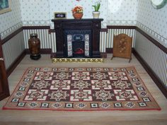 Hand stitched Dollhouse Carpet Medallions by WhimsyWooMiniatures, £75.00