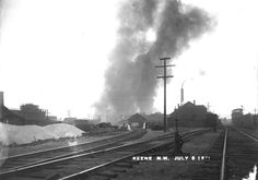 TITLE Fire at Impervious Package Company sawmill (5)  CREATOR Whitehouse, Bion, Keene NH  SUBJECT Fires -- NH -- Keene  DESCRIPTION  Photo shows railroad tracks and smoke in the distance from the sawmill fire at the Impervious Package Company.  PUBLISHER Keene Public Library and the Historical Society of Cheshire County  DATE DIGITAL 20140605  DATE ORIGINAL 1900-1920?  RESOURCE TYPE photographs  FORMAT image/jpg  RESOURCE IDENTIFIER hsykwh585 (15-32)  RIGHTS MANAGMENT No known copyright…
