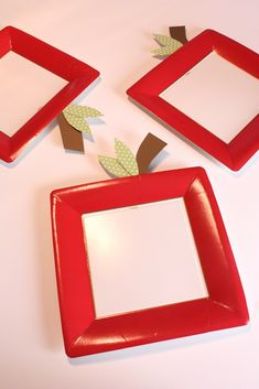 Simple Apple Plates DIY for Back To School Breakfast | @kimbyers TheCelebrationShoppe.com