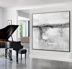 Black And White Minimalist Canvas Art,Large Original Abstract Art,Abstract Landscape Painting,Large Abstract Painting,Black White Wall Art Large Canvas Wall Art, Extra Large Wall Art, Canvas Size, Abstract Landscape Painting, Abstract Wall Art, Seascape Art, Abstract Oil, Contemporary Abstract Art, Modern Wall Art