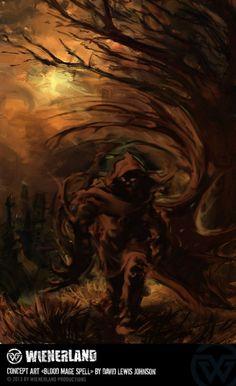 Concept Art *Blood Mage Spell* by David Lewis Johnson - Wienerland