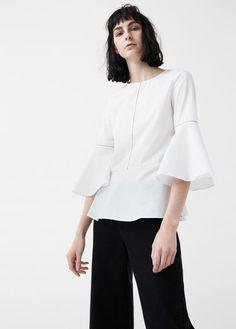 Blusa algodón volante