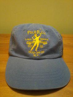 873baea58142 Vintage Polo Ralph Lauren Tennis Club Unisex Cap by VintageMixWest on Etsy  Vintage Tennis