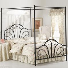 Furniture Wheatfields Canopy Bed Queen 700 Home Bedrooms