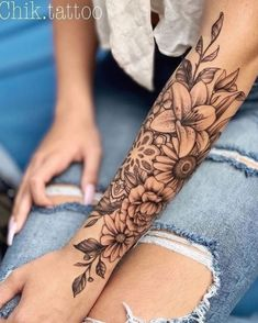 Tattoos For Women Half Sleeve, Best Sleeve Tattoos, Tattoos For Women Small, Sexy Tattoos, Unique Tattoos, Girl Tattoos, Small Tattoos, Tattos, Unique Tattoo Designs