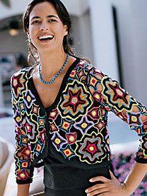 Folkloric Frida Kahlo Kaleidoscope Cardigan, Size S - 3X | ElegantPlus.com Editor's Pick