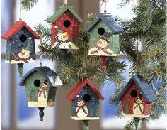 Casinhas para enfeitar árvore de natal