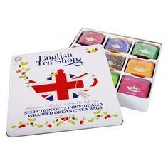 Selección Té ecológico English Tea Shop  Caja regalo Edición limitada con 9 variedades de té inglés ecológico de la casa English Tea Shop (72 bolsitas) #packaging