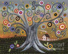 Blue Tree by Karla Gerard