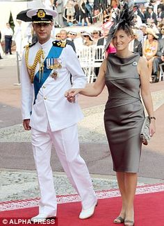With Prince Edward at the wedding of Prince Albert of Monaco and Charlene Wittstock earlier this month