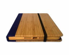 Bamboo iPad Air 2 Bookcase Wood iPad Air 2 Case Wood by Primovisto  I want to make one of these for my Kindle