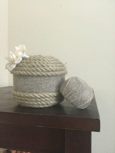 A personal favorite from my Etsy shop https://www.etsy.com/listing/467591418/glass-vase-wrapped-in-burlap-and-jute