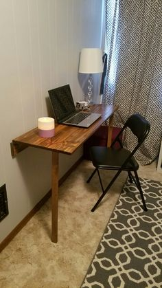 Fold down desk for small space