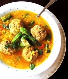 Sopa de albondigas.  My go-to cure for the common cold.  Love this stuff!
