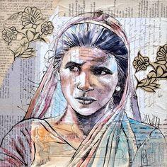 "Stephanie Ledoux - ""Assam - Inde"" - mixed media"