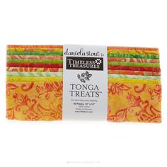 """Tonga Treats Batiks - Sunburst Treat 10"""" Squares - Daniela Stout - Timeless Treasures"""